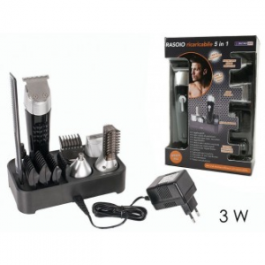 Set Multi Cut Kit Rasoio Ricaricabile 3 W Con Caricatore e Accessori per la Rasatura Professional Cut