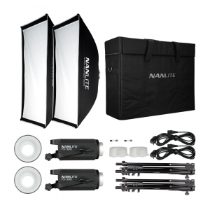 FS-300 Kit 2 Led Spot Daylight 350W 5600K con stativi