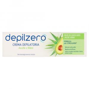 DEPILZERO Crema Depilatoria Ascelle e Bikini Olio di Avocado e Aloe Vera 75ml