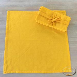 Set 4 tovaglioli giallo