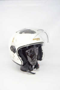 Casco Da Moto Bianco Nolan Tg.L