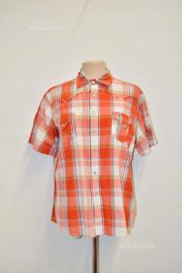 Shirt Man Mfl Orange White With Tears Size.m