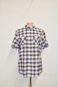 Shirt Man Zara Man White Blue Grey Size.m
