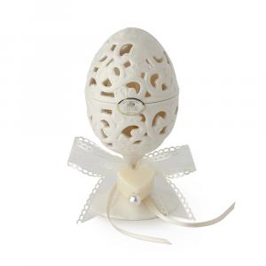 HERVIT - contenitore a uovo in porcellana traforata con saponi - 27519