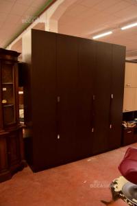 Wardrobe 5 Wooden Doors Brown Wenge