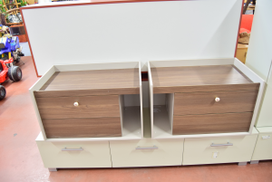 Pair Drawers In Wood Color Ice And Wengè New