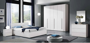 Room Double Complete With Bed Container New Color Olmo Or White