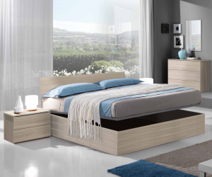Bed Container Wood Conpreso Of Net New Color Olmo And White