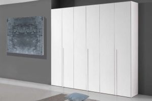 Wardrobe 6 Wooden Doors Made In Italy New Color Olmo Or White