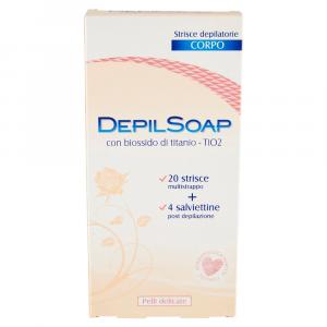 DEPILSOAP Strisce Depilatorie Corpo Pelli Delicate x20