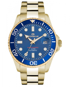 Lorenz Orologio Submarine - Gold/Blue