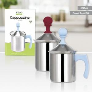 Mixer Sbattitore per Il Cappuccione Capienza Massima 800 ml Per Colazioni Perfette In Acciaio Utile Funzionale