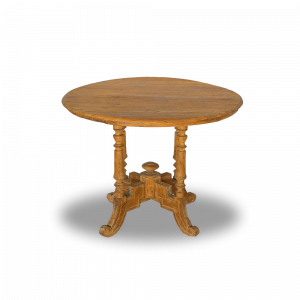 Tavolo round cm 94 in legno di teak antique Bali