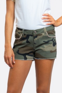 NOSECRETS 211NS017 Shorts in drill denim mimetico