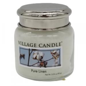 Village candle Pure Linen 25 ore candela