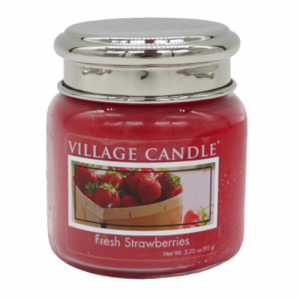 Village candle Strawberries 25 ore candela