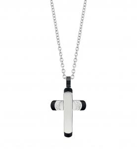 Bliss - collana uomo acciaio con croce, collezione Premiere, 20085246