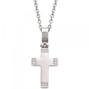 Bliss - collana uomo acciaio con croce, collezione Totem, 20072857