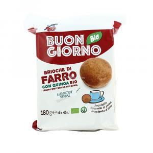 BUONGIORNOBIO BRIOCHE DI FARRO CON QUINOA BIO 180g (45grX4)
