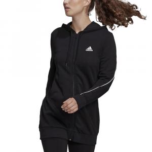 Adidas Felpa con Cappuccio Logo Nera da Donna