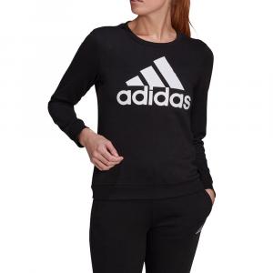 Adidas Felpa con Logo Nera da Donna