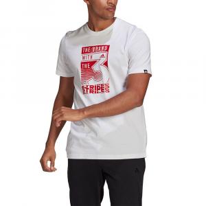 Adidas T-Shirt con stampa Bianca da Uomo