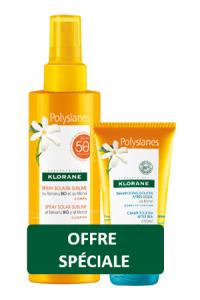 Klorane spray solare SPF50 200ML + Shampoo doccia doposole 75ml