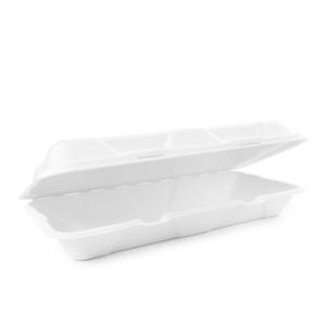 Contenitore asporto con coperchio biodegradabile LUNGO - 14,5X31X6cm