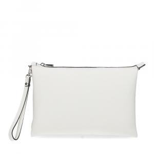 Loristella borsa pochette Lily 2525 pelle bianca