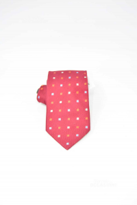 Tie Crossbow Color Bordeauxxand Checkered Colored