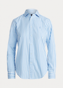 Camicia donna cotone righe R.L ART. 784161