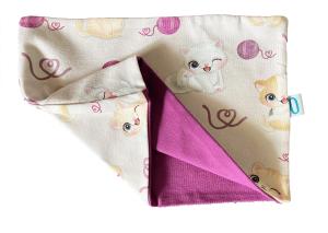Gattini e il gomitolo - paracollo in cotone