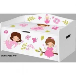 Bauletto Portatutto Per Bambini Con Fatine L68xP28xH40 Cm Fairies Bambine Casa