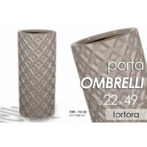 Porta Ombrelli Colore Tortora Per La Casa Decorato con Rilievi Casa Arredo In Ceramica