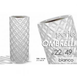 Porta Ombrelli Colore Bianco Per La Casa Decorato con Rilievi Casa Arredo In Ceramica