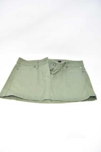 Mini Skirt Woman Green Benetton Size 42