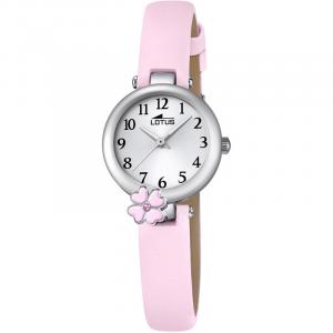 Orologio bambina Lotus solo tempo con cinturino in pelle rosa18267/2