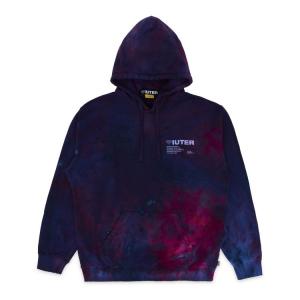 IUTER Hoodie Disaster Tie Dye Purple