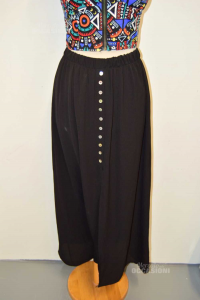 Skirt Woman Dani Black With Buttons Size.m New
