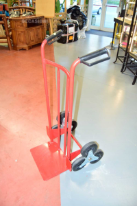 Trolley Saliscale Red With Three Wheels To Star