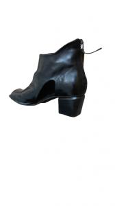 Stivaletto donna|pelle nera|apertura anteriore|tacco 5cm|Made in Italy