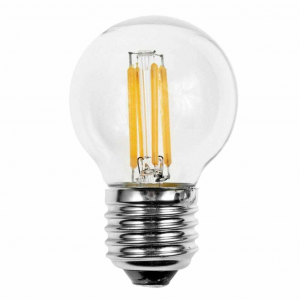 LAMPADINA A GOCCIA FILAMENTO LUCE CALDA LED 6W=60W