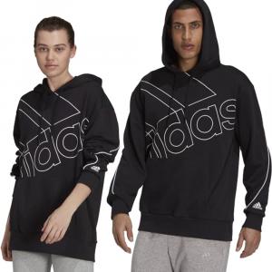 Adidas Felpa Big Logo con Cappuccio Nera Unisex