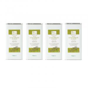 Olio EVO Ogliarola 4 LATTINE DA 5L 2020/21 - Olio extravergine di oliva Pugliese cultivar Ogliarola Sante in Latta da 5 Litri - Terre di Ostuni-3