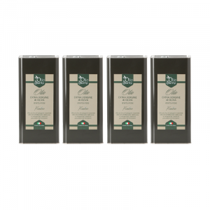 Olio EVO Frantoio 4 LATTINE DA  5L 2020/21 - Olio extravergine di oliva Pugliese cultivar Frantoio Sante in Latta da 5 Litri - Terre di Ostuni-2-2