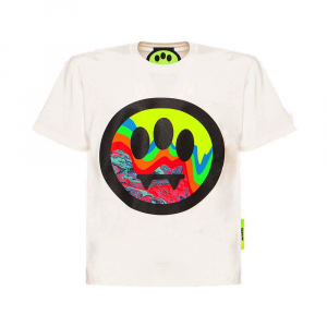 BARROW Tee Psychedelic Smile White
