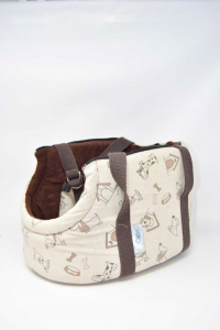 Kennel Portable Per Dog Beige And Brown