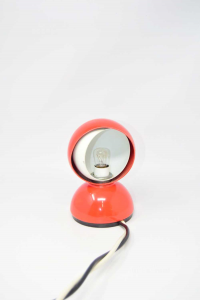 Lamp Vintage Lacquered Red And White