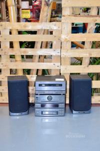 Stereo Pioneer Grigio Modello XC-P410M Funziona ( Lettore CD Da Sistemare)