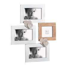 Portafoto cornice da parete multipla Mascagni in legno per 4 foto A946